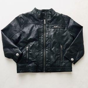 H&M Fleece Lined Vegan Leather Jacket